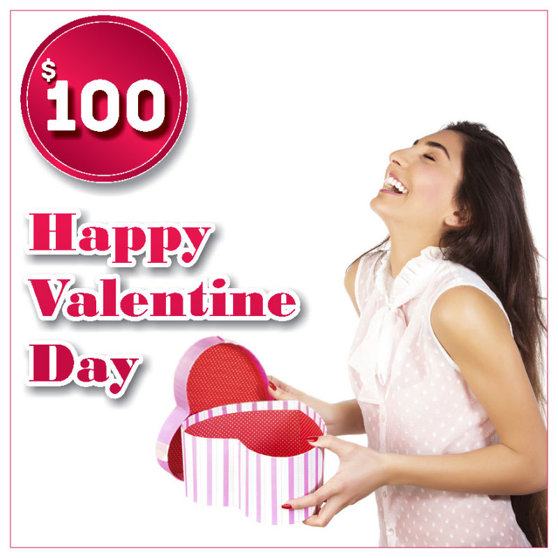 Gift certificat for Valentine Day $100