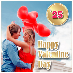 Gift certificat for Valentine Day $25
